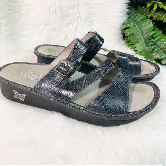 Alegria black sandals size 10